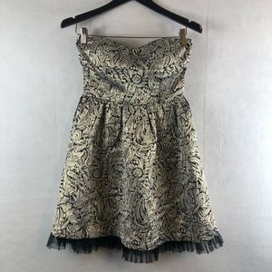 Forever 21 Dresses - Forever 21 strapless small Petite dress gold